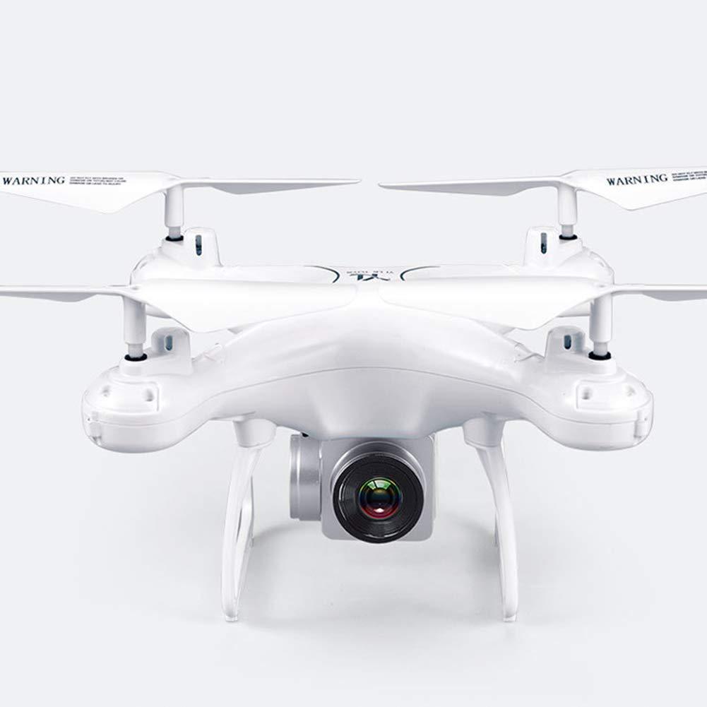GXFCFF Drone e Fotocamera, Controllo vocale Aereo della Fotocamera 1080P HD, Volo Luce Notturna, Esperienza VR 3D Senza Testa altitudine modalità per Mantenere RC Elicottero,bianca
