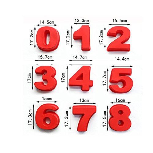 anniversaire Moule /à g/âteau en silicone avec chiffres pour d/écoration de g/âteau pour f/ête pr/énatale anniversaire