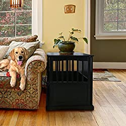 "Casual Home 600-22 Wooden Pet Crate, Black, 27"" H"