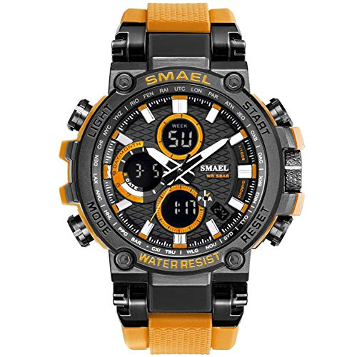 SMAELBand Digital Army Watch Men LED Sport Watches Waterproof Clock Men's Military Wrist Watch