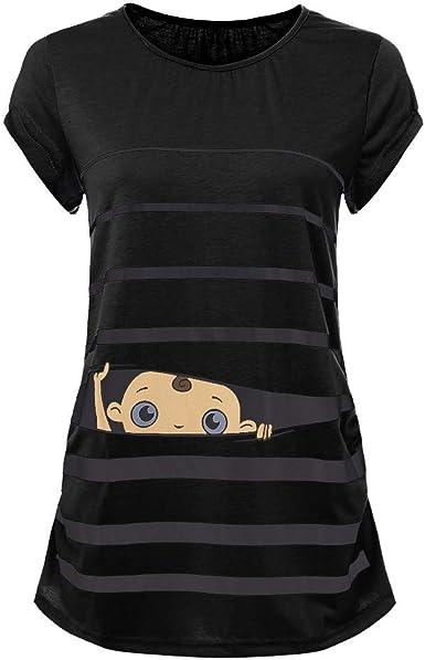VECDY Ropa Premamá, Embarazada Modelo Lindo para Niños Chaleco De Maternidad Camisa Sin Mangas Camiseta Camisetas Sin Mangas Elasticidad Embarazo Chaleco Verano Suave Tops: Amazon.es: Ropa y accesorios