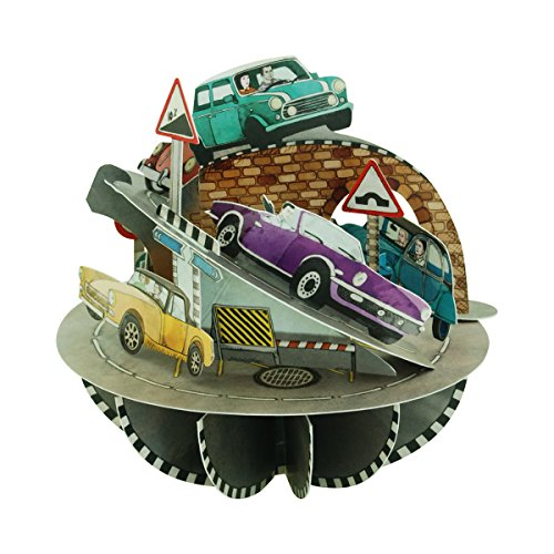 Santoro Pirouettes PS043 Retro Cars 3D Greeting Card, Multicolor (Greeting Cars Cards)