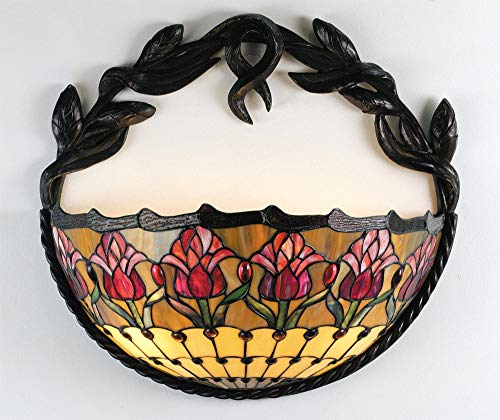 - Meyda Tiffany Colonial Tulip 2 Light Wall Sconce