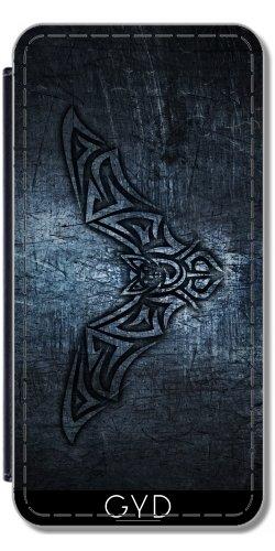 Leder Flip Case Tasche Hülle für Apple Iphone 7 Plus / 8 Plus - Fledermaus Stammes-Stahl Metallischen Herren by Nina Baydur