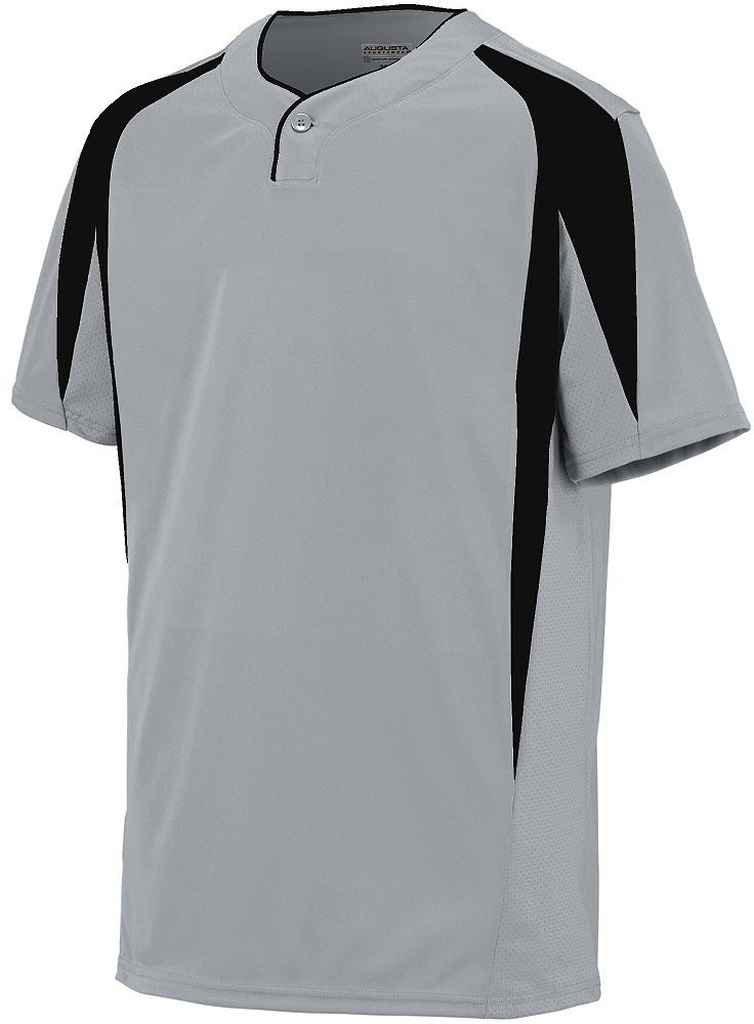 Augusta Sportswearメンズフライボール野球ジャージー B00P53TI9G XLarge|シルバーグレー/ブラック シルバーグレー/ブラック XLarge