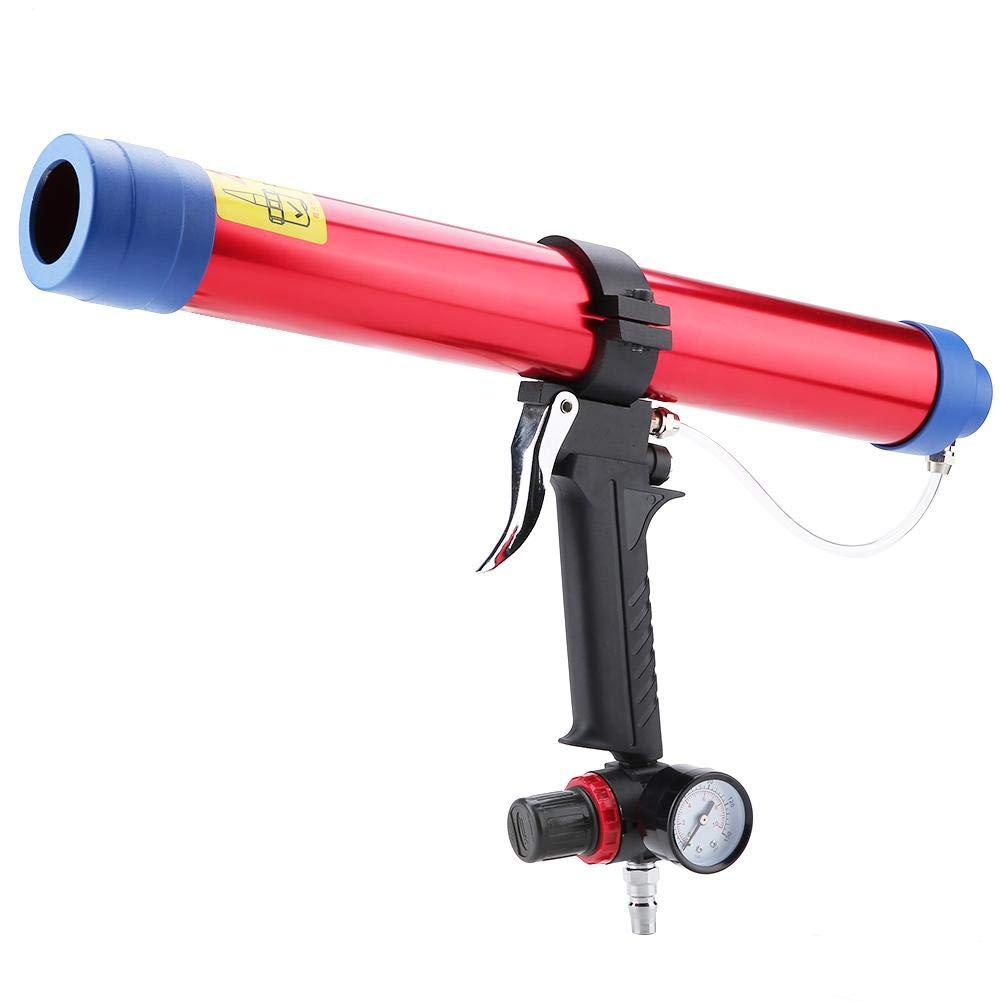 Akozon Pistola de calafateo de aire Neum/ática Pegamento de vidrio Sellado de pistola Pistola de aire 300~600ML Aplicador Encolado de vidrio Kit de mantenimiento de la ventana del coche