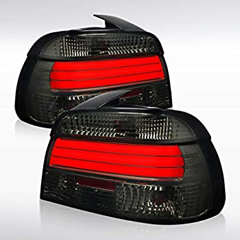 Glossy Black 1997-2000 BMW E39 Projector Headlights+Red//Smoke LED Tail Lights