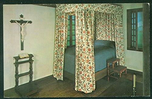 French Bedroom Illinoise House Crucifix Phillippe Liebert Chicago Historical Society Vintage Postcard
