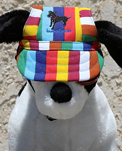 LoveWally Dog Outdoor PET Hat Rainbow ♦ Adjustable Authentic (Large) by LoveWally (Image #5)