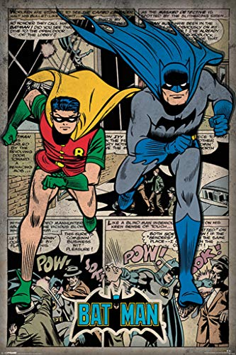 Pyramid International Batman and Robin DC Comics Retro Style Montage Poster 24x36 Inch]()