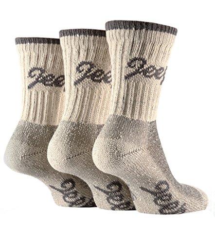 3 Pairs Ladies Luxury Stone Jeep Terrain Walking Socks Fit Shoe Size 4-7 Uk, 37-40 Eur