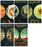 Douglas Adams 5 Books set: The Hitchhiker's Guide to the Galaxy, The Restaura...
