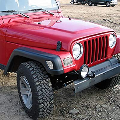 Spec-D Tuning For Jeep Wrangler Bumper Side Marker Lights Signals Clear: Automotive