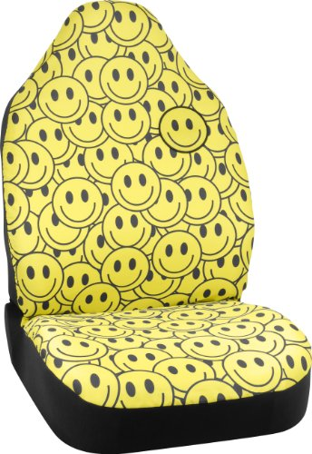 Bell Automotive 22-1-56803-8 Universal Smiley Face Emoji Seat Cover ()