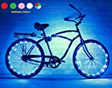 GlowRiders Bike Wheel/Lights – Colorful Light Accessory for Bike – Perfect for Burning Man (Blue)