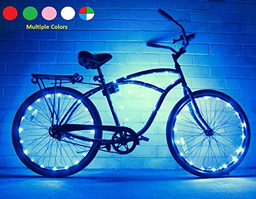 GlowRiders Bike Wheel/Lights - Colorful Light Accessory for Bike - Perfect for Burning Man ()