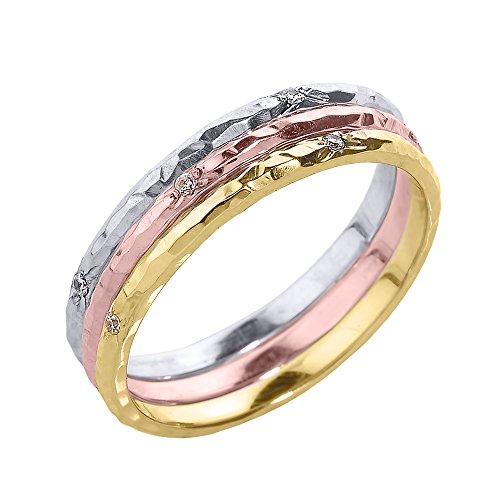 Hammered Ring Set - 4