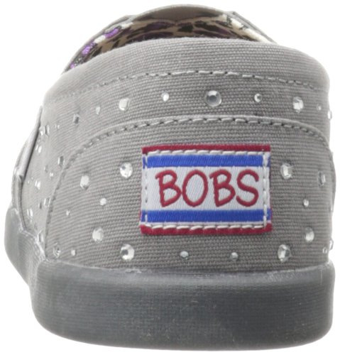 Bobs Van Skechers Vrouwen Wereld Vallende Ster Platte Houtskool