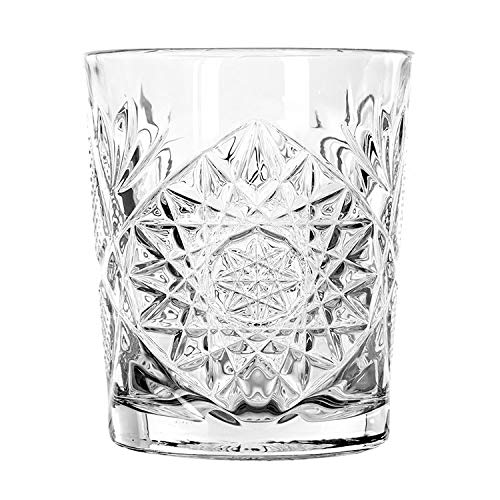 Libbey 5632 12 Oz Double Old Fashioned Glass, Hobstar, One Glass