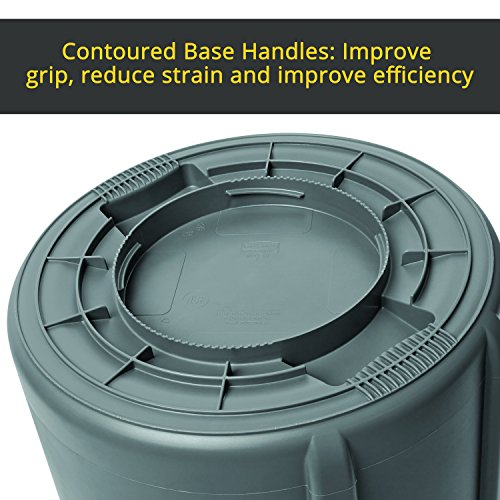 Rubbermaid Commercial Products FG263200GRAY BRUTE Heavy-Duty Round Trash/Garbage Can, 32-Gallon, Gray by Rubbermaid Commercial Products (Image #9)