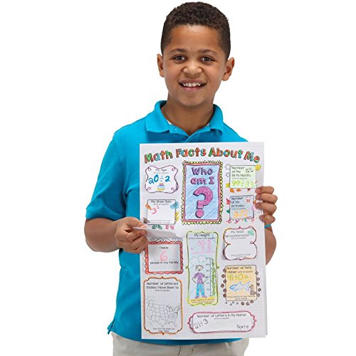 Ready-To-Decorate Math Facts About Me Jumbo Lift-A-Flap -