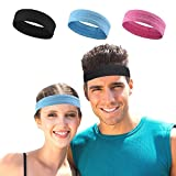 Sweat Bands Headbands Men STOP SWEAT AND NO SLIP Sports Running Headband Athletic Workout Sweatbands for Women Sweat Head Band Mens Hair Soorts Cycling Biking