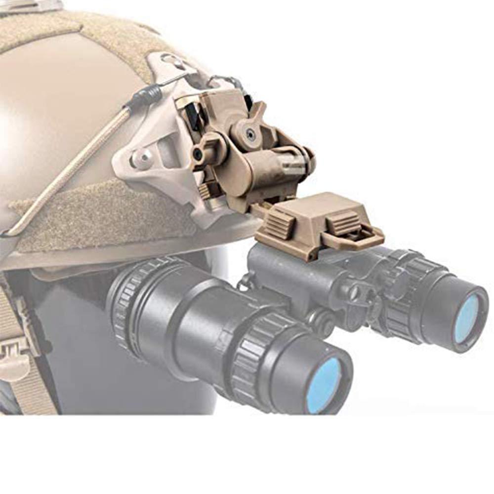 Support Accessoire de Casque Tactique Enti/èrement en M/étalGPNVG18 PVS15 PVS18 pour M88 Mich Fast,Tan WLXW Fixation de Casque Lunettes de Vision Nocturne avec Supports NVG
