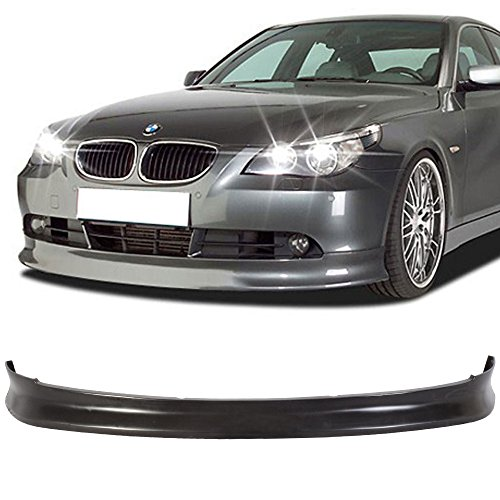 Front Bumper Lip Fits 2004-2007 BMW E60 E61 5 Series | IKON Style Black PU Front Lip Finisher Under Chin Spoiler Add On by IKON MOTORSPORTS | 2005 2006 ()
