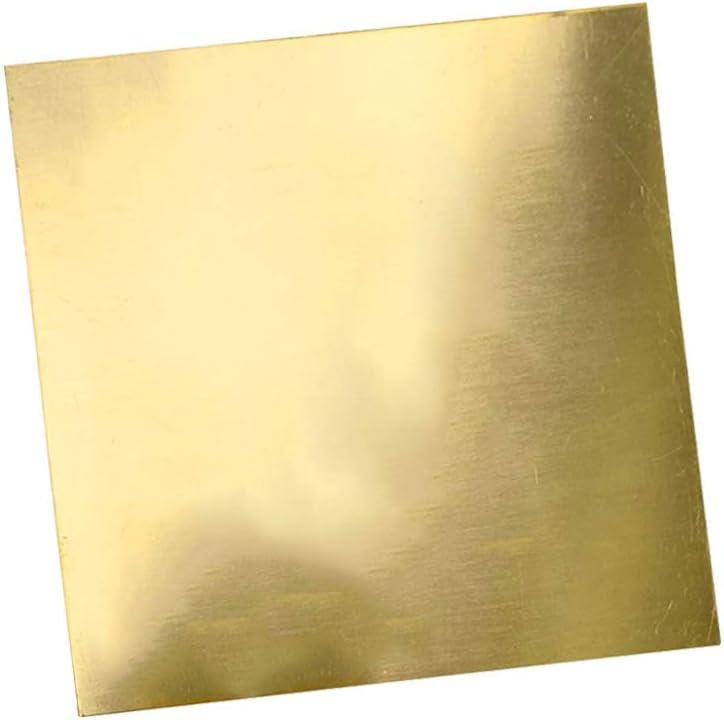 Finish Half Hard Temper 100mmx100mm//4x4inch,Thick:2mm//0.08inch,2 pcs LOKIH Brass Sheet Unpolished Mill