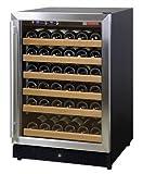 Allavino MWR-541-SSR 51 Bottle Wine Cooler Refrigerator - Black Cabinet with Stainless Steel Door