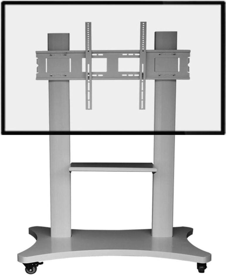 ローリングテレビスタンドモバイル Tv カート、60-100 インチ LED LCD プラズマフラットパネルディスプレイスタンドキャビネットの高さ調整360ºの回転ワイヤ管理ベッドルーム教室会議室ビデオ通話