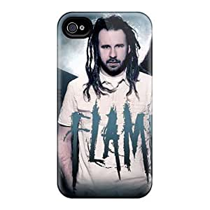 Shock-Absorbing Cell-phone Hard Cover For Iphone 4/4s With Unique Design Attractive Foo Fighters Image VIVIENRowland