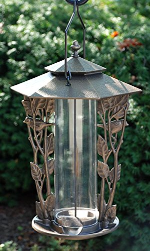 Whitehall Products Chickadee Silhouette Feeder, 12-Inch, French Bronze