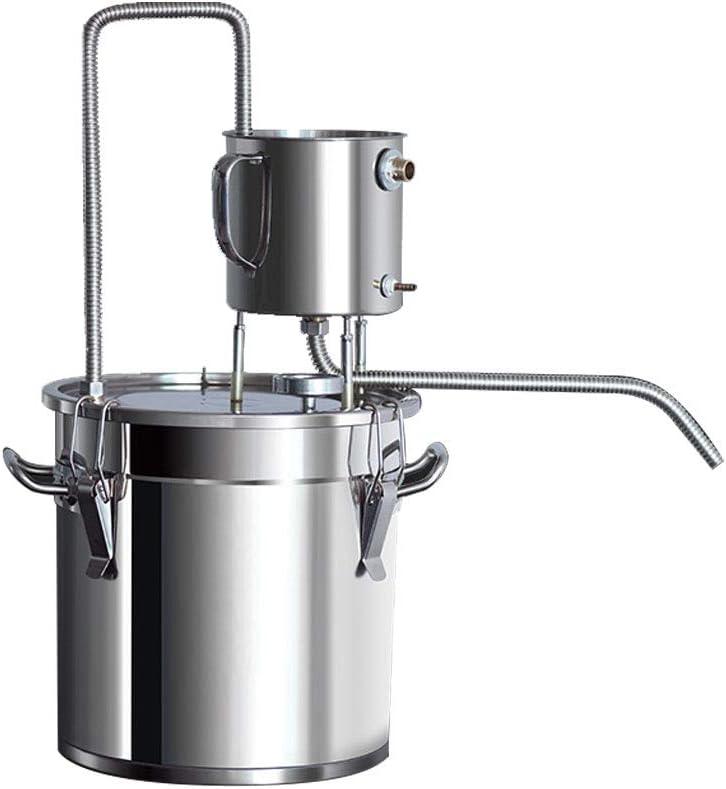 Moonshine Still Kit Complete, Home Alcohol Distiller,304 Stainless Steel Whisky&Wine Spirits Making Kit (3Cal/12L)