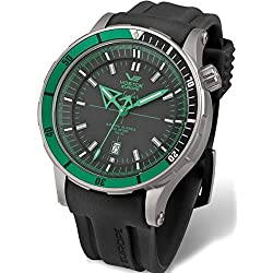 Vostok-Europe Anchar Mens Automatic Dive Watch with Tritium Tube Illumination 5104144