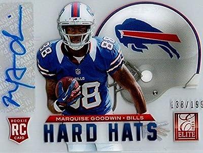 2013 Elite Rookie Hard Hats Autograph #42 Marquise Goodwin #138/199 Buffalo Bills