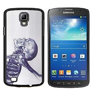Eason Shop / Premium SLIM PC / Aliminium Casa Carcasa Funda Case Bandera Cover - Tatuaje Esqueleto Muerte de tinta metal - For Samsung Galaxy S4 Active i9295
