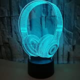 Lovebirds LED Night Light 3D Illusion Bedside Table Lamp 7 Colors Changing Sleeping Lighting Cute Car Gift Warming Present Creative Decoration