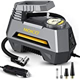 MOICO Air Compressor Tire Inflator, 12V DC Digital Air Pump for Car Tires,Auto Tire Pump with Emergency LED Light,Portable Air Compressor for Car Tires,Bicycles and Balls