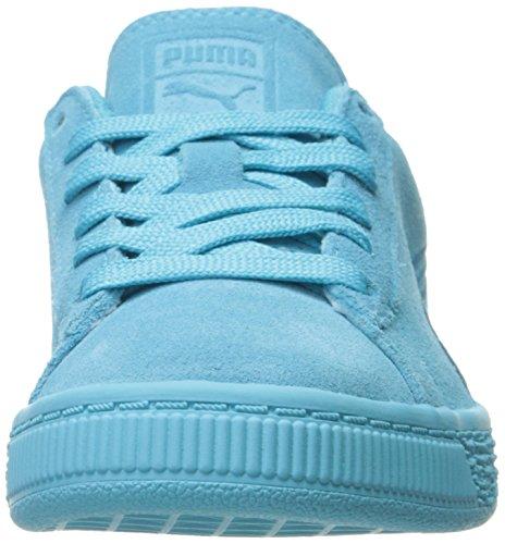 Puma Suede Classsic Badge Ps - Zapatillas de Piel para niño morado cabernet azul claro