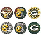 """NFL Green Bay Packers WCR97914713 Round Button (6 Pack), 2"""""""
