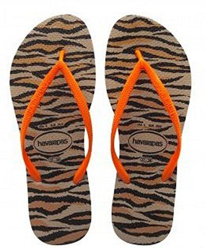 Havaianas Women's Slim Animals Fluo Flip Flop Sandal, SZ 11/12