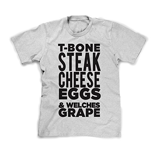 Notorious Biggie Smalls T-Shirt/badboy Concert Tee T-Bone Steak (Gray, - Style 3000 Andre