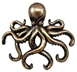 Ky & Co YesKela Bronze Finish Octopus Wall Plaque Key Holder Hooks Figurine Mount Collectible