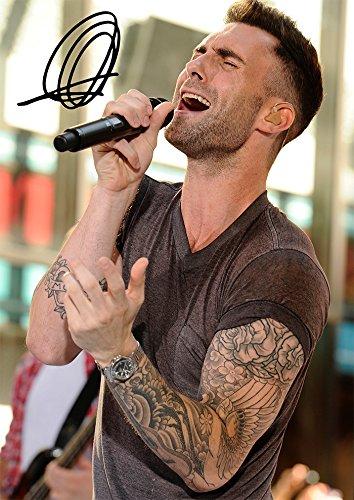 Large Adam Levine Maroon 5 Band Print Signed (Pre-print Autograph) Adam Levine (11.7