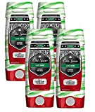 #6: Old Spice Hardest Working Collection Hydro Body Wash, Live Wire, 16 Fluid Ounce (Pack of 4)