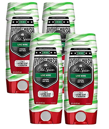 Old Spice Hardest Working Collection Hydro Body Wash, Live Wire, 16 Fluid Ounce (Pack of 4)