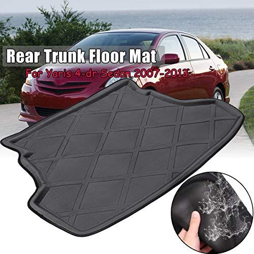 Iris-Shop - Rear Waterproof Trunk Cargo Mat Floor Tray Boot Liner For Toyota Yaris/Vios/Belta/Limo 2007-2013 4-dr Sedan