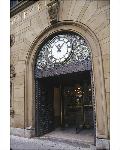 Photographic Print Of Canada  Quebec  Montreal  Entrance Of The Henry Birks And Sons Building  Nr
