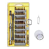 62 in 1 Precision Screwdriver Set with 56 S2 Steel Magnetic Screwdriver Kit, Showpin Professional Repair Tool Kit,Flexible Shaft,for Cell Phone/Computer/Tablet/MacBook,Clock, Game Console